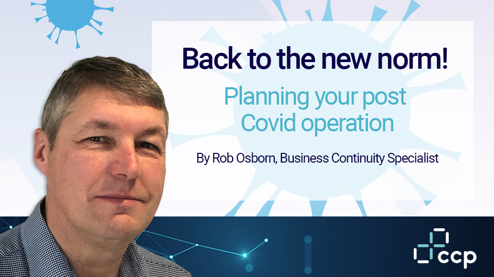 CCP LinkedIn Story - Business Continuity - Rob Osborn