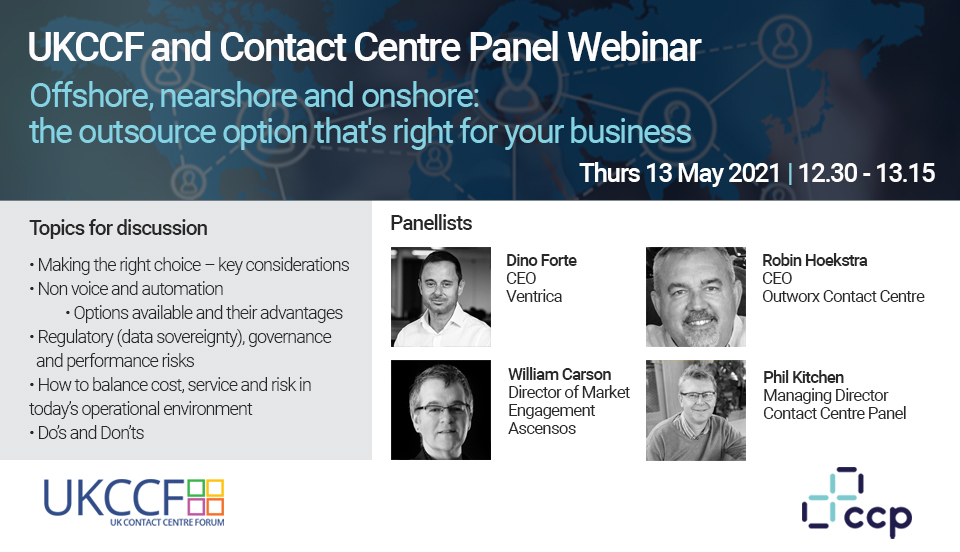 Contact Centre Panel & UKCCF Outsourcer Webinar 2